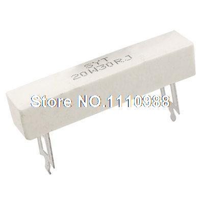 2x 20W 30 Ohm 5% Wirewound Ceramic Cement Resistor 20 Watt2x 20W 30 Ohm 5% Wirewound Ceramic Cement Resistor 20 Watt