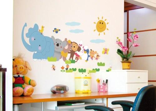 Dier decals kamer decoratie liefde olifant aap dierentuin kids