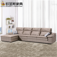 fair cheap low price 2017 modern living room furniture new design l shaped sectional suede velvet fabric corner sofa set X296(China)