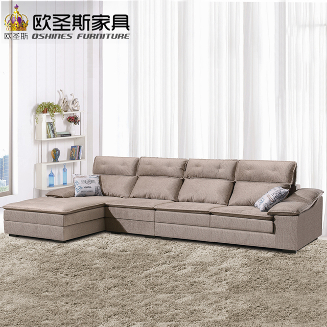 Fair Low Price 2017 Modern Living Room Furniture New Design L Shaped Sectional Suede Velvet Fabric Corner Sofa Set X296