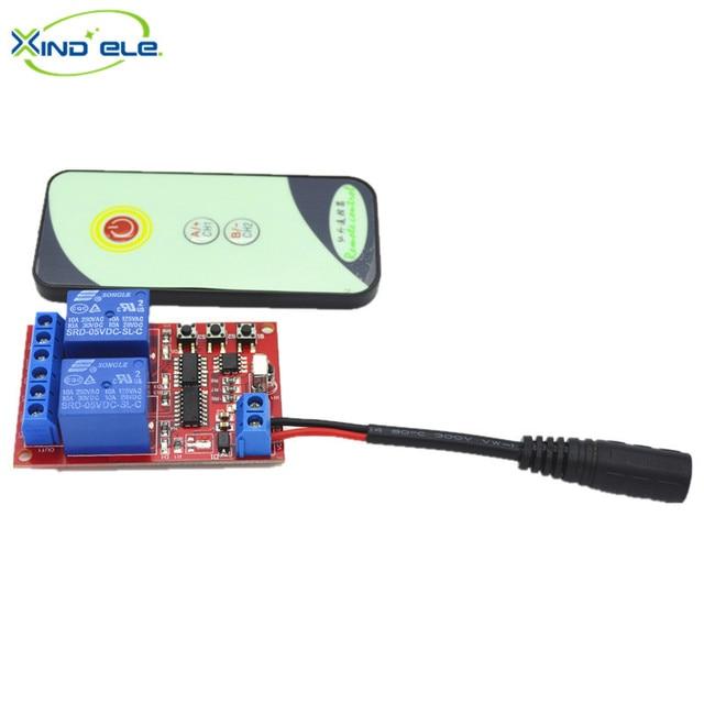 5V 2 way Relay Receiver Wireless Remote Control Switch Light IR