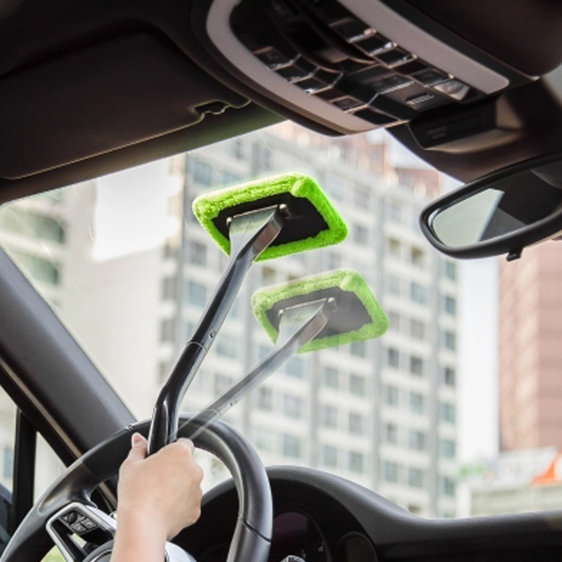 Car Mop For Cleaning Windows Windshield Fog Cleaning Tool Brush Washing Rag Wipe Duster Home Office Auto Windows Glass Cloth brush for windows telescopic sponge rag mop cleaner window home cleaning tools hobot brush for washing windows dust cleaning