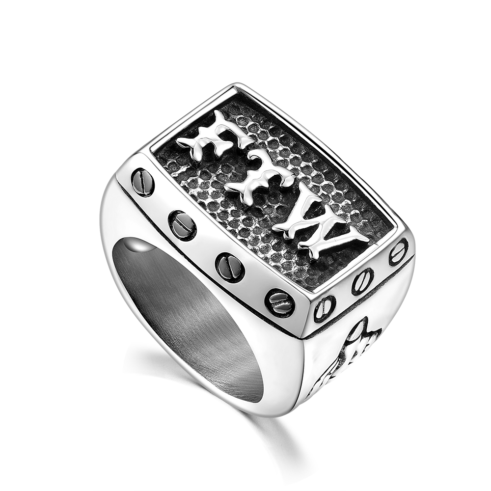 US $2 75 20% OFF|Hot Sale 316L Titanium Steel FTW Biker Ring Punk Men's  Jewelry Christmas Gifts Low Price Wholesale drop shipping-in Rings from
