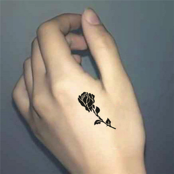 New Women Sexy Chest Hand Fake Tattoo Stickers Rose Flowers Pattern