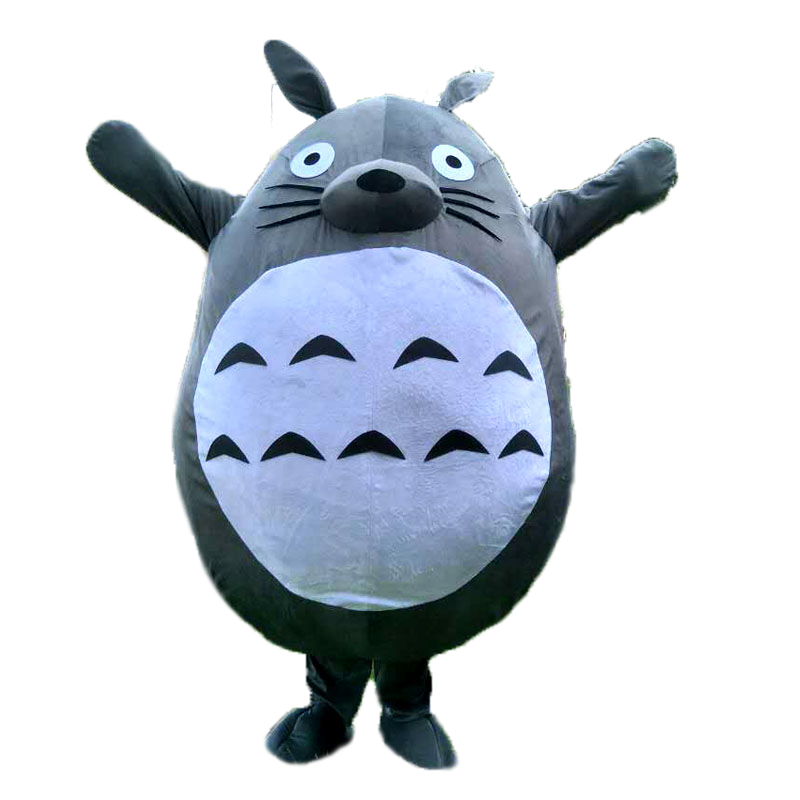 Totoro Mascot Costume Hot Cat My Neighbor High Quality Cat  Fancy Dress Cosplay Costumes Lovely Cat Free Fast Shipping
