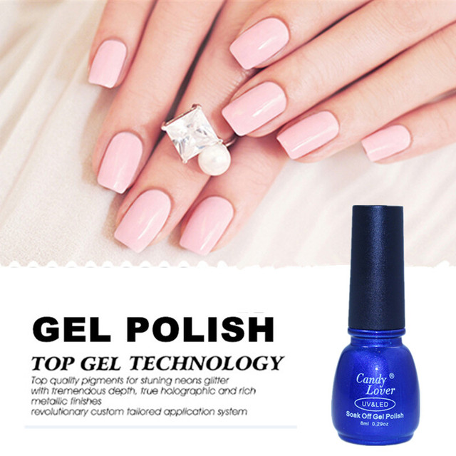 Candy Lover French Manicure Pink gel nail polish 8ml long lasting ...
