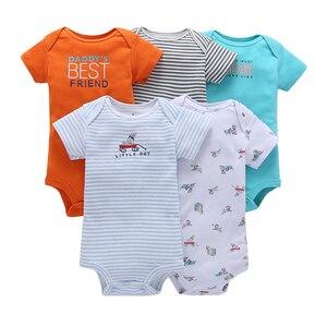 Image 3 - תינוק ילד ילדה בגד גוף גוף חליפת קצר שרוול בגדי קריקטורה יוניסקס תינוק קיץ בגדי 2020 יילוד תלבושות חדש נולד תלבושת