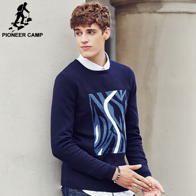 Pioneer Camp 2017 Standard Pullovers sweater men brand clothing Auturm Winter Men Formal Knitted christmas sweater 611207