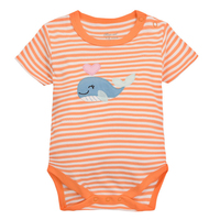 y427 free shipping Summer new orange whale boys and girls baby stripes triangle jeans newborn cotton cotton summer clothing