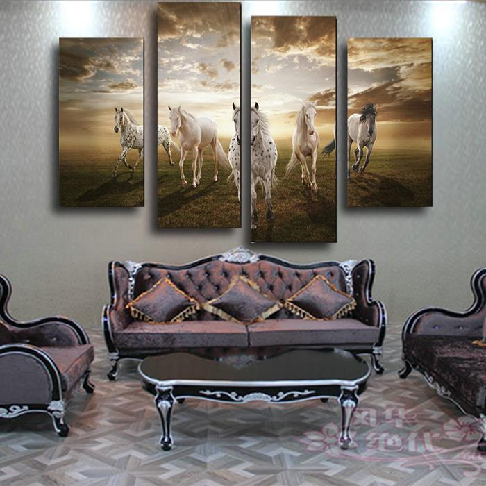 Large Living Room Art Part - 41: Aliexpress.com : Buy 2017 Real Paintings Unframed Running Horse Large Hd  Home Decor Wall Pictures For Living Room Art Canvas Decoration New Painting  From ...