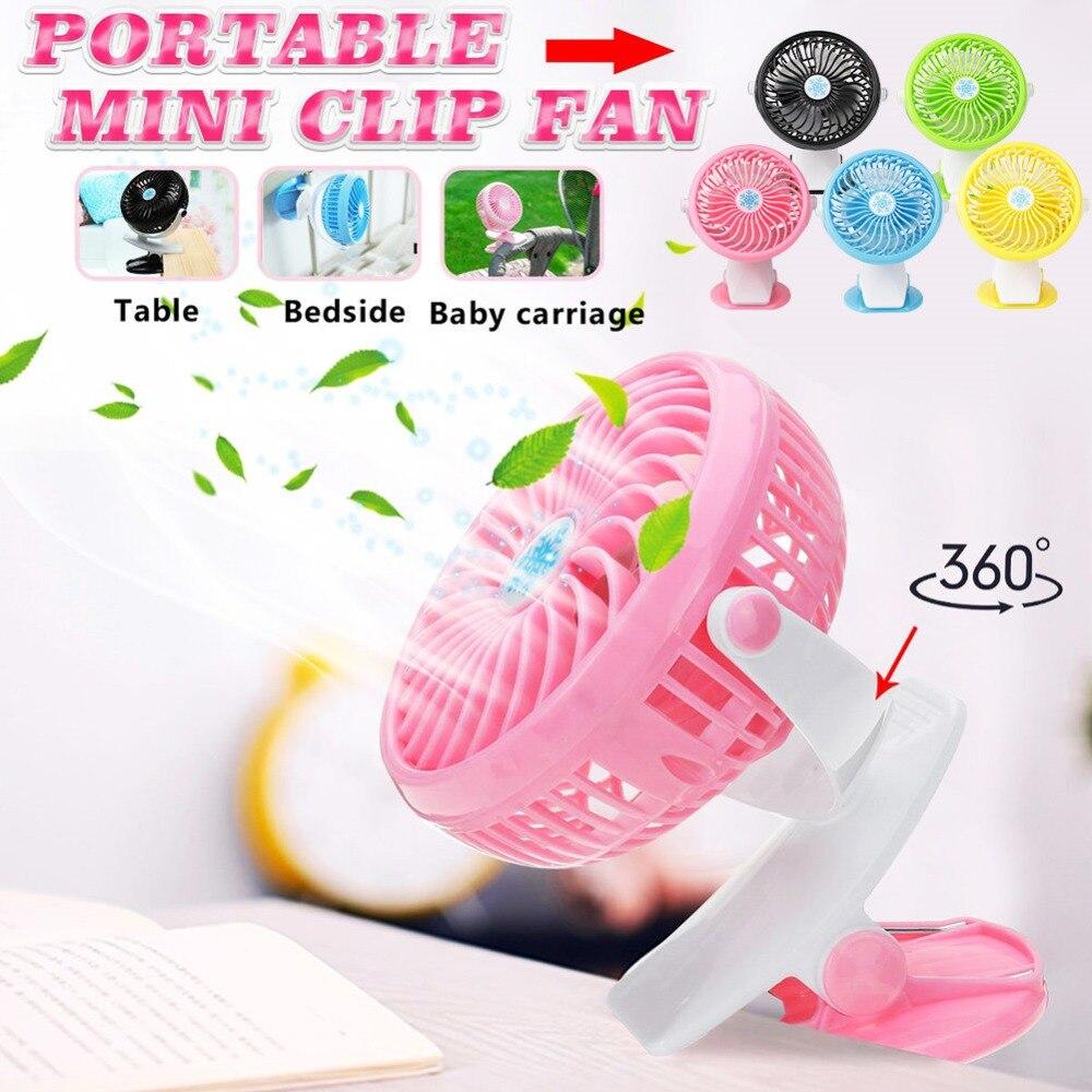 Cool-sommer Mini Stumm Clip Fan Wiederaufladbare Für Baby Kinderwagen Fans Tragbare Luftkühlung Schreibtisch Tisch Usb Fan Für Hause Auto Büro