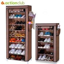 Actionclub หนาทอป้องกันฝุ่นตู้รองเท้า DIY Assembly เก็บรองเท้าชั้นวางรองเท้าชั้นวางของ 10 ชั้น 7 ชั้น