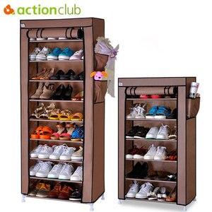 Image 1 - Actionclub หนาทอป้องกันฝุ่นตู้รองเท้า DIY Assembly เก็บรองเท้าชั้นวางรองเท้าชั้นวางของ 10 ชั้น 7 ชั้น