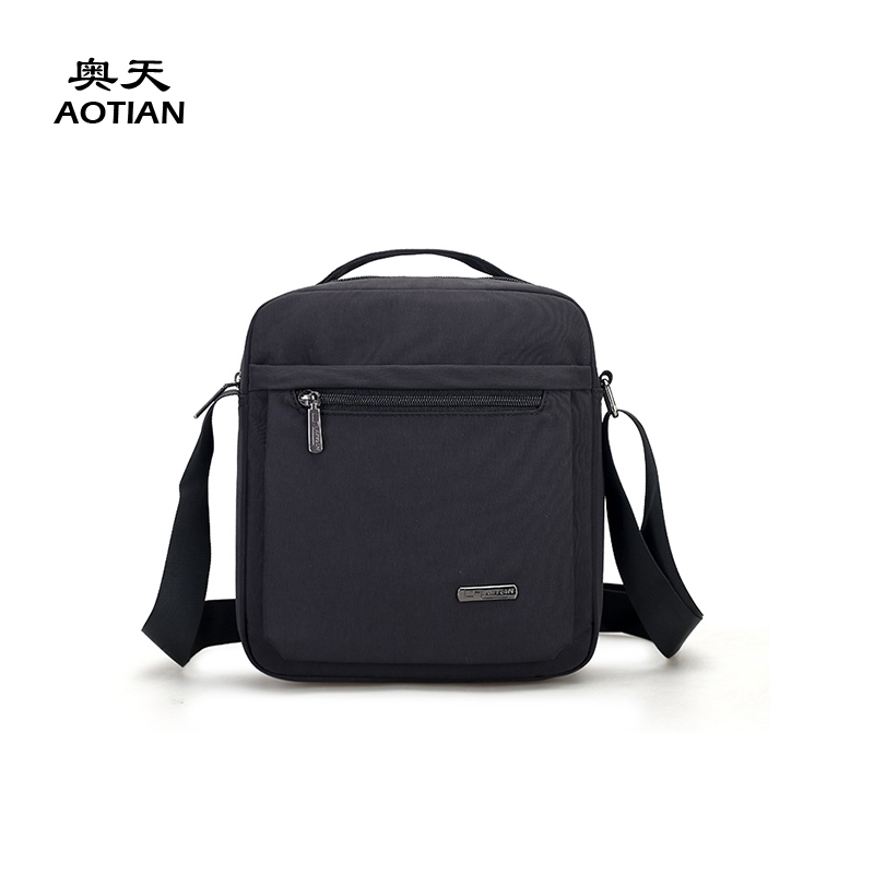 Aotian business style nylon small size men messenger bag vogue crossbody casual mini cute male portable popular solid boy flaps redfox сумка full size business messenger 1000 черный