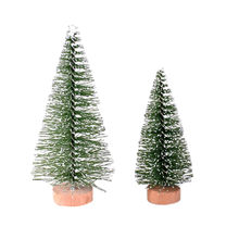 1Pc Christmas Tree Mini Pine Tree With Wood Base DIY Home Table Top Decor S/M decorations for home Decor(China)