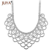 Fashion Chokers Necklaces For Women Luxury Rhinestone Bib Chunky Necklace Bridal Wedding Party Statement Jewelry Accessories