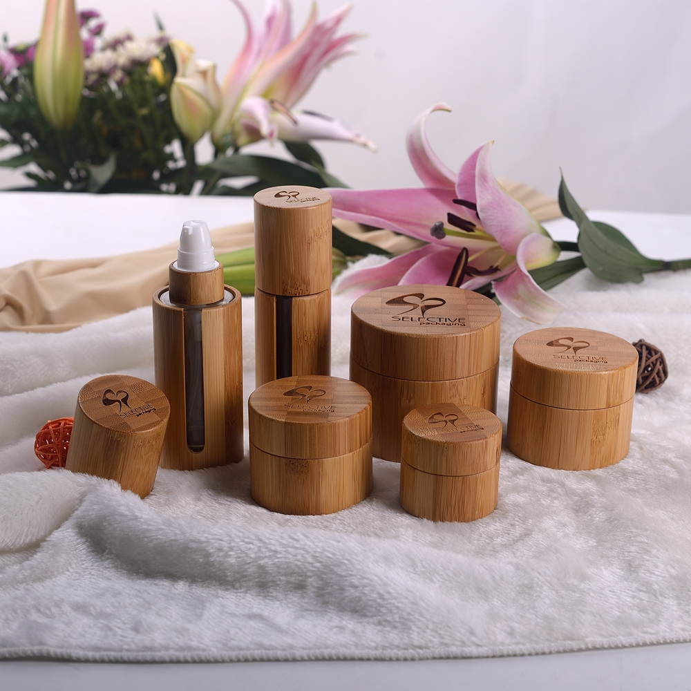 30g Bamboo Jar Cosmetic Bamboo Cream Jar With Glass Inner Cosmetic Packaging 30g 50g 100g 120g Luxury Bamboo Cream Jar Container