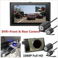 HD 1080P/720P Front/Rear View Camera Motorcycle DVR Dash Cam Camera GPS G Sensor Night Vision 3 LCD Dual Waterproof Camera