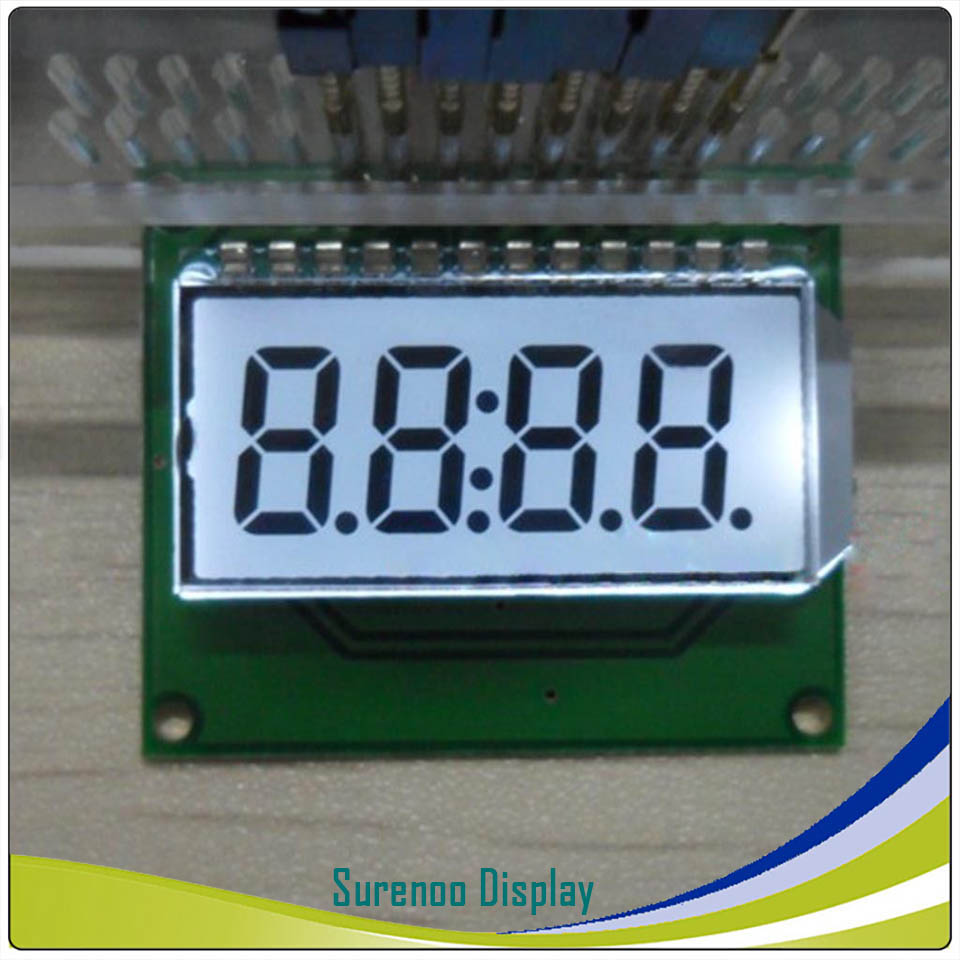 "Brand New Customized ""8.8.:8.8."" Segment Digital LCD Module Display Screen Panel build-in HT1621 Controller in 3.3V"