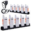 10PCS Mini Walkie Talkie NKTECH NK-U1 VSWLN KD-C1 UHF 400-470MHz 5W 16 Channels Handheld Ham Transceiver Two-way Radio+Cable+mic