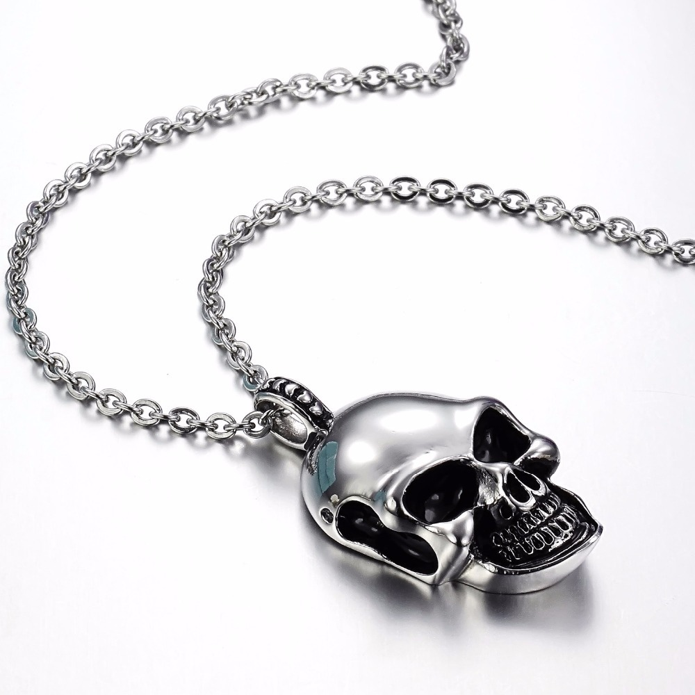 Skull necklace men 316L Stainless Steel Men Necklace Fashion Skull