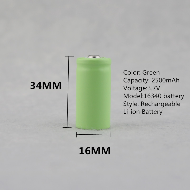 4pcs CR123A 16340 Battery 2500mAh 3.7V Rechargeable Lithium Li-ion Battery + Tavell Battery Charger For Led Flashlight Headlamp