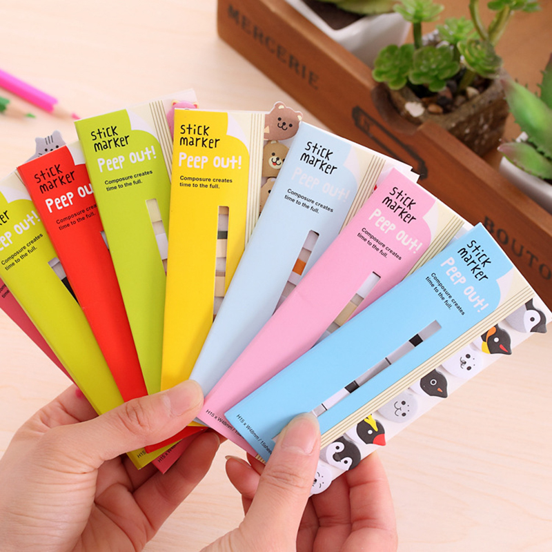 Kawaii Scrapbooking Stickers Sticky Notes School Office Supplies Memo Pad Page Flags Children Favourite Stationery Material aihao rainbow candy colored stick markers book page index flag sticky notes bookmark office school supplies stationery