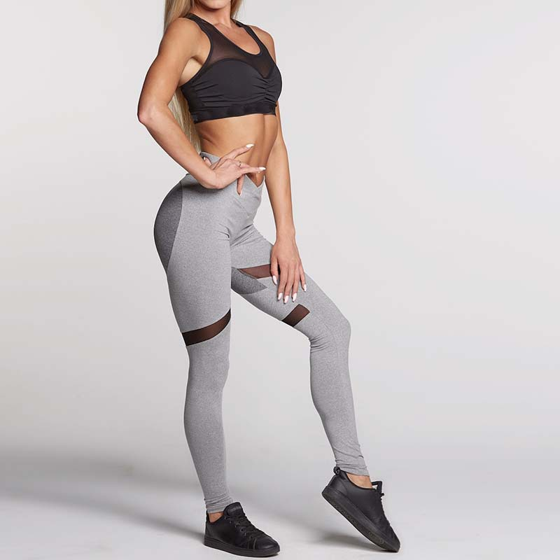 July New Fast Dry Running Gym Sport Outfits Gear Black Grey Heart Mesh Panel Women Activewear Workout Leggings Yoga Pants In Yoga Pants From Sports