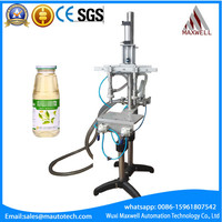 Over Flow Filling Machine Semi Auto Filler Filling Machine For Liquid Water Bottle Glass