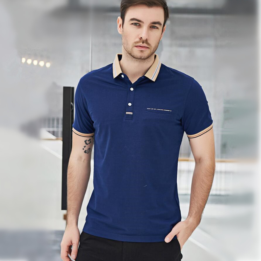 2019 new brand Short sleeve Men's   Polo   Shirts Solid color simple business Men   polos   para hombre Fashion Casual For Male tops