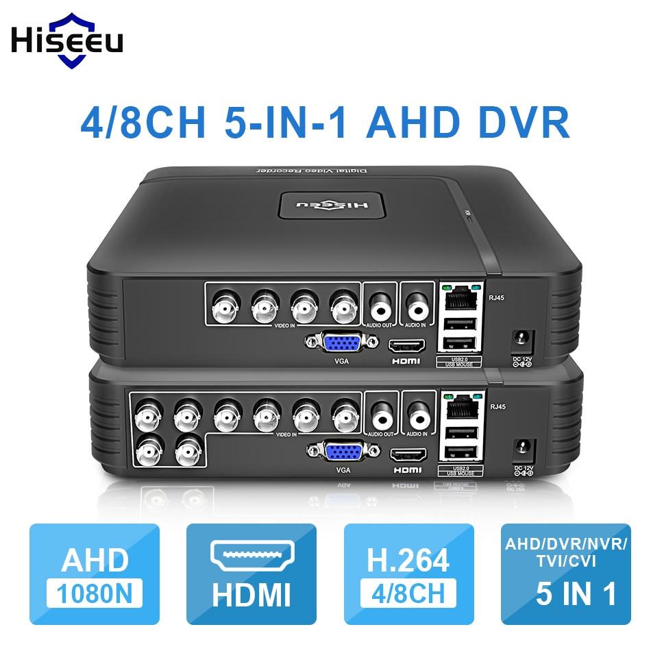 AHD 1080N 4CH 5IN1 8CH CCTV DVR Mini DVR Para CCTV Kit Sistema De Segurança Mini NVR VGA HDMI Para 1080 p Câmera Onvif IP PTZ DVR H.264
