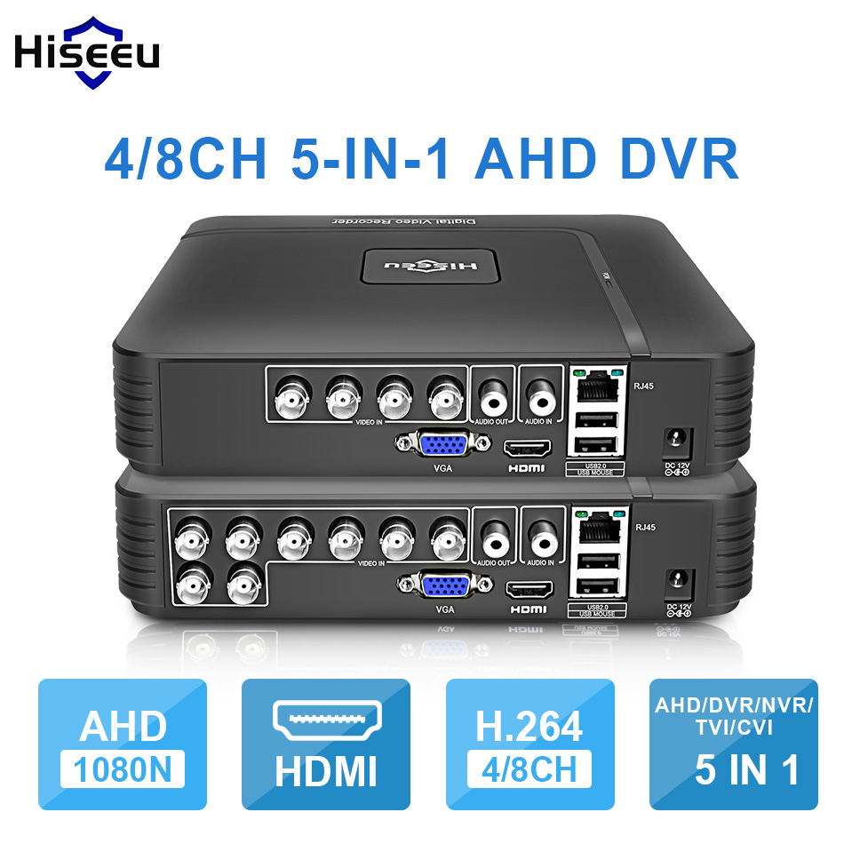 ahd 1080n 4ch - AHD 1080N 4CH 8CH CCTV DVR Mini DVR 5IN1 For CCTV Kit VGA HDMI Security System Mini NVR For 1080P IP Camera Onvif DVR PTZ H.264