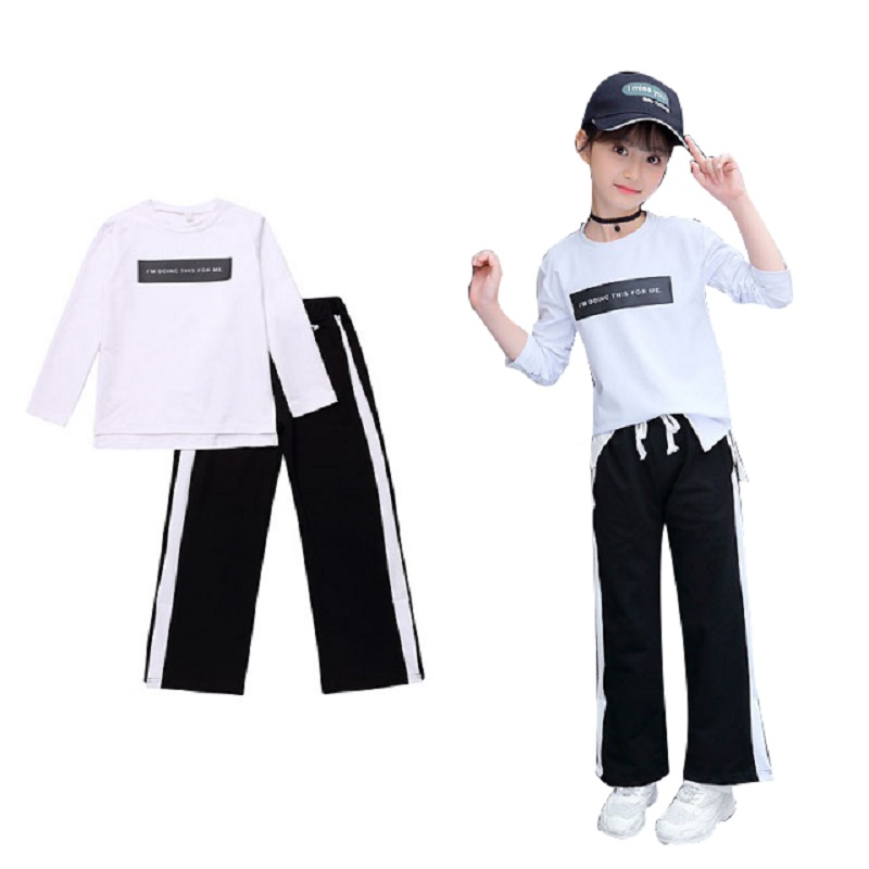 New long-sleeved sweater kids's clothes woman 2019 spring and autumn heat garments two-piece four 5 6 7 eight 9 10 11 12 13 14 Yr Clothes Units, Low-cost Clothes...