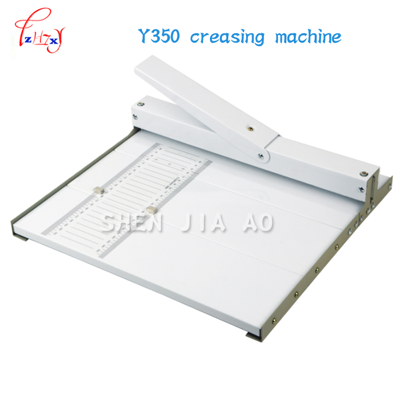 paper creasing machine Manual Paper Folding Machine, Y350 Paper Grater for Slit Length 350mm / A3 +paper creaser yh450 heavy duty paper creaser manual creasing 455mm photo paper machine manual scoring machine manual indentation machine