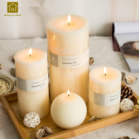 Candles Wedding Decoration Bougies Et Chandelle Velas Wax Decorative Candle Making Scented Bougie Blanche Pillar Candles JKK092