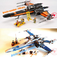 New Star wars Fighter First Order Poe's X wing figures fit legoings starwars building block bricks technic Toy gift kid boys set