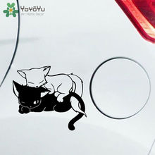 High Quality Lovely Pet Cat Car Sticker Cute Cartoon Decal Vinyl Window Decoration Motorcycle Accessories Design ZW238