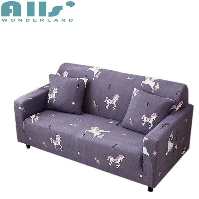 Unicorn Printed Universal Stretch Furniture Covers For Living Room