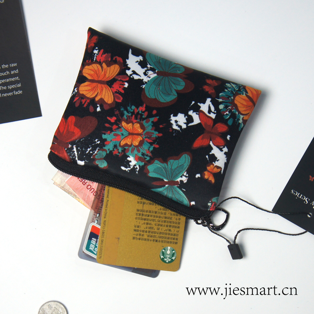 Купить с кэшбэком Butterfly series JIESMART customized sublimation printing change holder coin purse
