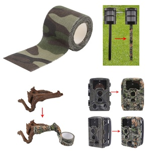 Image 2 - Army Non Woven Cohesive Bandage 5M Self adhesive Non woven Camouflage Cohesive Camping Hunting Stealth Tape