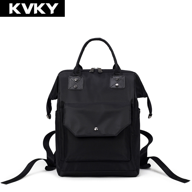 KVKY Brand Fashion Waterproof Nylon Women Backpacks Casual Ladies Shoulder  Bags Preppy Style Backpack for Mother Teenage 026643638a1eb