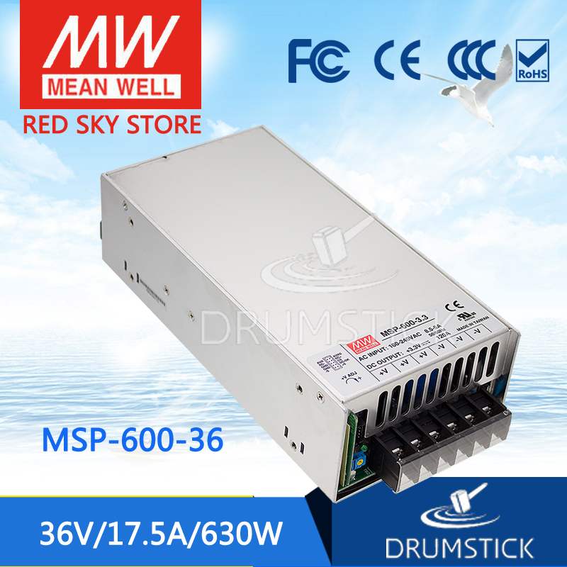 MEAN WELL MSP-600-36 36V 17.5A meanwell MSP-600 36V 630W Single Output Medical Type Power Supply 100% original mean well msp 100 36 36v 2 9a meanwell msp 100 36v 104 4w single output medical type power supply