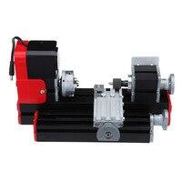 (Shipping From US) DIY Mini Metal Motorized Lathe Machine Woodworking Power Tool Model Making
