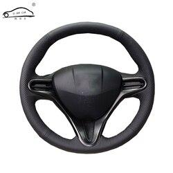 الجلود الاصطناعية عجلة توجيه سيارة جديلة لهوندا سيفيك القديم سيفيك 2006-2011/مخصص غطاء عجلة قيادة السيارة