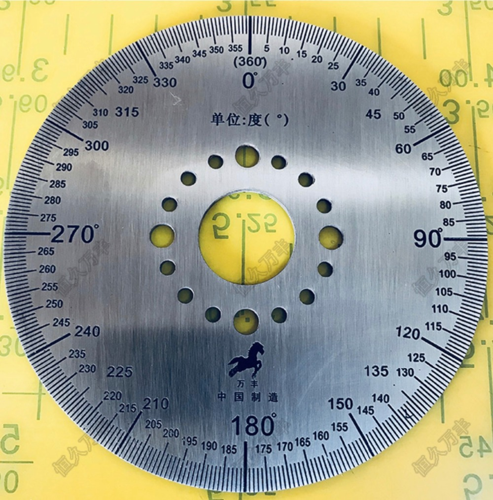 Diameter:100mm inner hole:20mm thickness:2mm 360 degree dial plate Stainless steel disc цена
