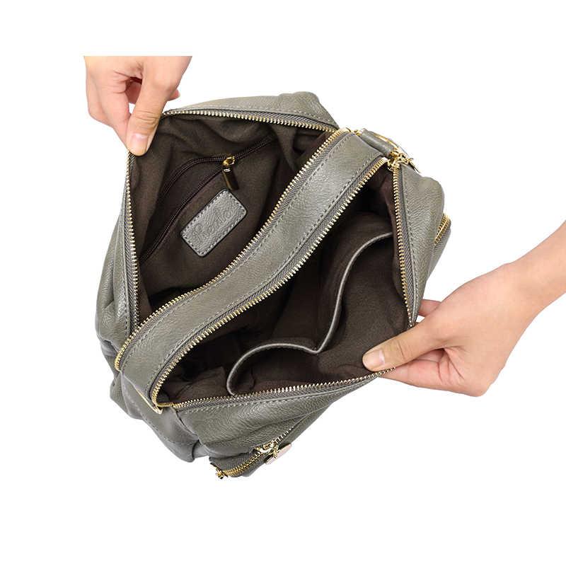 Mais real marca de moda feminina sacos de ombro feminino alta qualidade tote saco senhoras duplo zíper mensageiro sacos mulheres marcas famosas