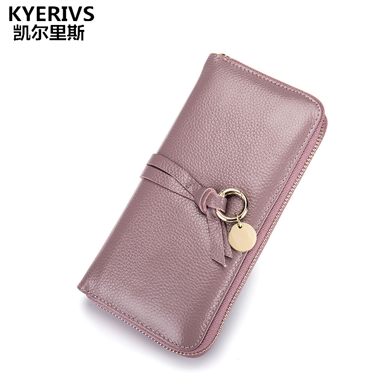 High Quality Clutch Bag Fashion Purse Genuine Leather Wallet Female Long Card Holder Wallet Women Zipper Coin Purse for Phone 2016 new high quality ladies purse fashion women bifold leather clutch card holder purse long handbag female long section wallet