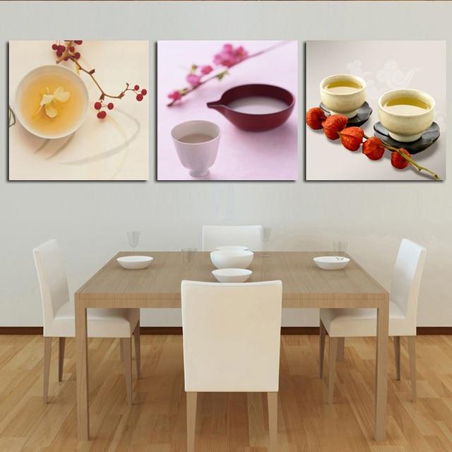 Cuadros de comedor composicion de cafe cuadros para el - Pintura comedor moderno ...