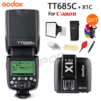 Godox TT685 TT685C ttl 2,4G HSS GN60 Вспышка Speedlite + X1T C для Canon Камера Flash 5D Mark III 500D 550D 600D 7D 6D 750D
