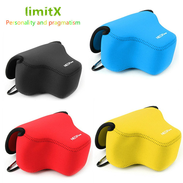 Portable Protective Soft Case Cover Waterproof Inner Camera Bag for Canon Powershot SX70 HS SX60 HS / Fujifilm X T3 18 55mm lens